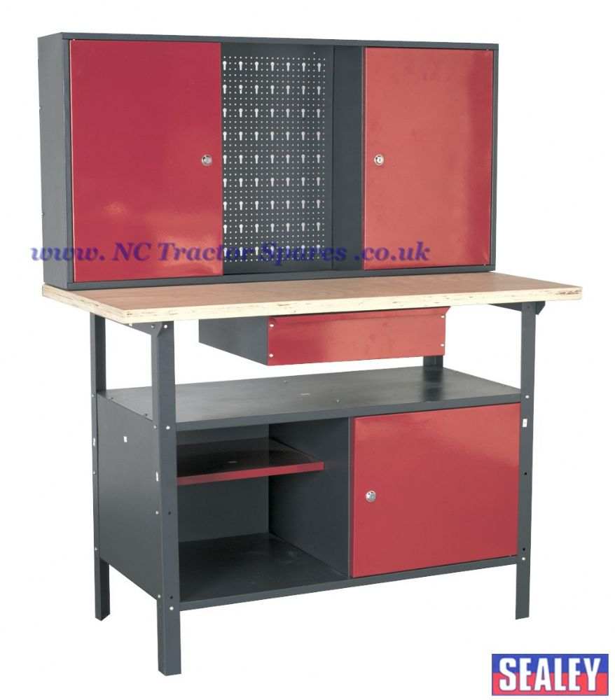 Workstation 1.2mtr with Drawer & Cupboards